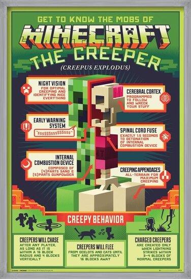 Plakát Minecraft - Creepy Behaviour