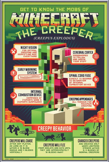 Plakát Minecraft - Creepy Behaviour
