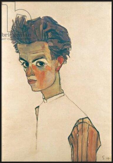 Obrazová reprodukce  Self-Portrait with Striped Shirt, 1910