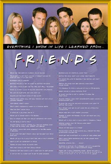 Plakát Přátelé - Everything I Know