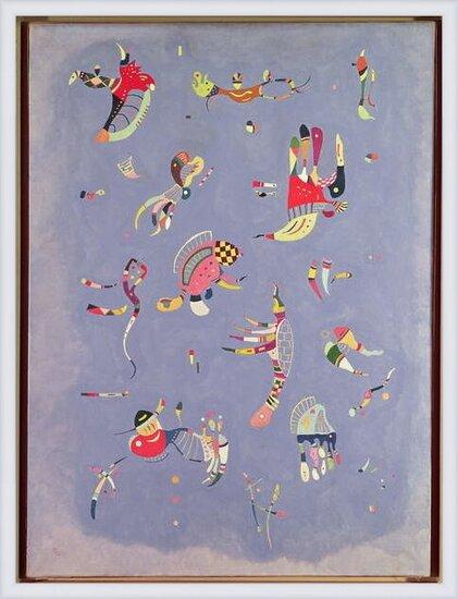 Rámovaný plakát Wassily Kandinsky - Sky Blue