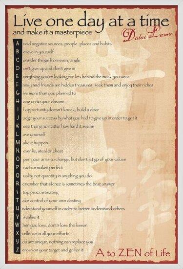 Plakát  Dalai Lama - the balance