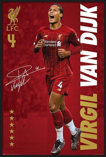 Plakát Liverpool FC - Virgil Van Dijk