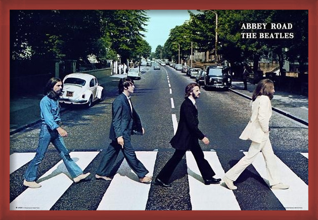 Plakát Beatles - abbey road