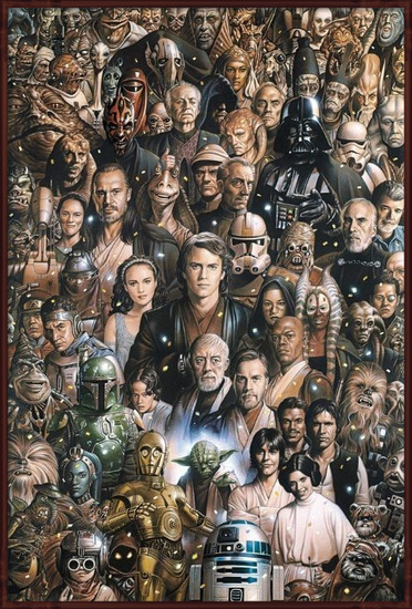 Plakát  STAR WARS - characters