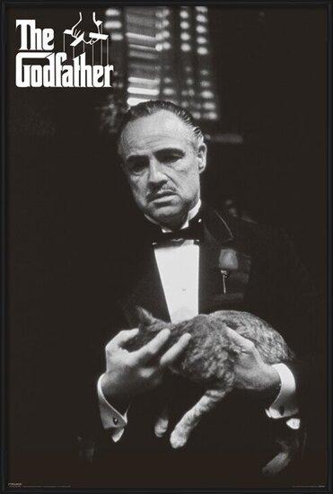 Plakát  The Godfather - cat (B&W)
