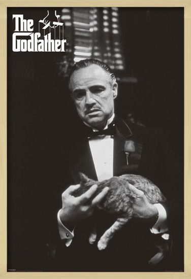Plakát  The Godfather - cat (B&W)