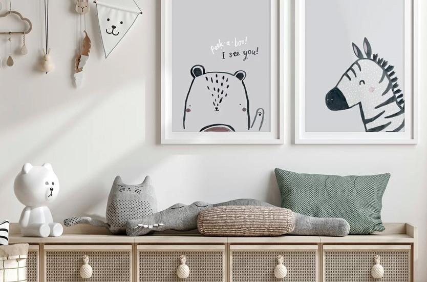 Ilustrace Peek a boo bear