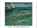 Moře u Saintes-Maries - Rybářské lodě na moři, 1888