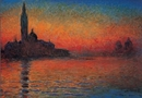 San Giorgio Maggiore za soumraku - Západ slunce v Benátkách (Stmívání v Benátkách)