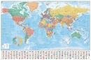 Mapa světa - Flags and Facts