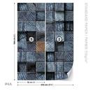 Dřevěné kostky - tmavošedá textura
