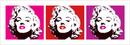 Marilyn Monroe - Red Triptych